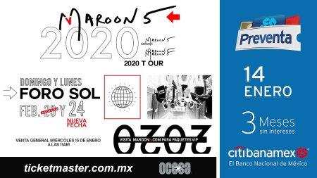 Maroon 5 anuncia nueva fecha en México