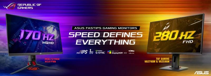 ASUS presenta los monitores gaming más rápidos del mundo - monitores-gaming-asus-800x288