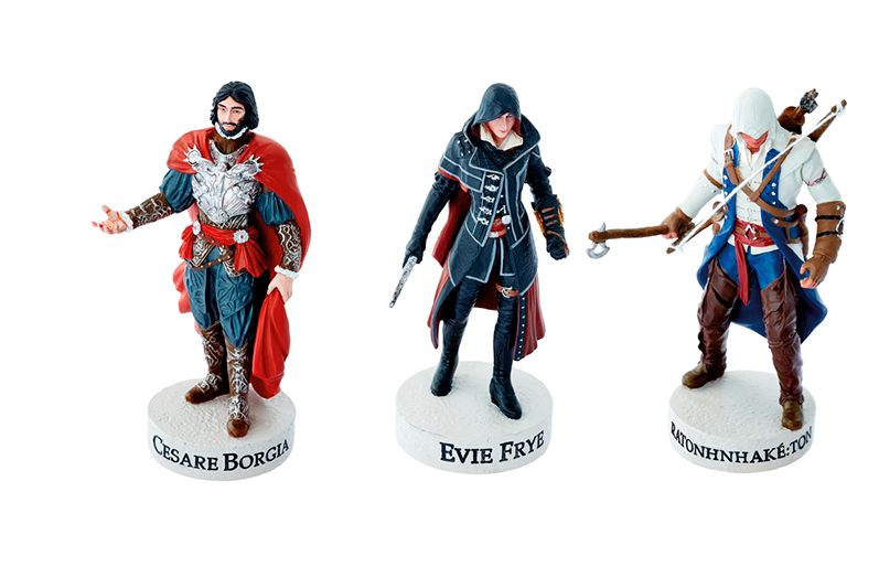 Ubisoft lanza colección oficial de Assassin's Creed - assassins-creed-coleccion-figuras