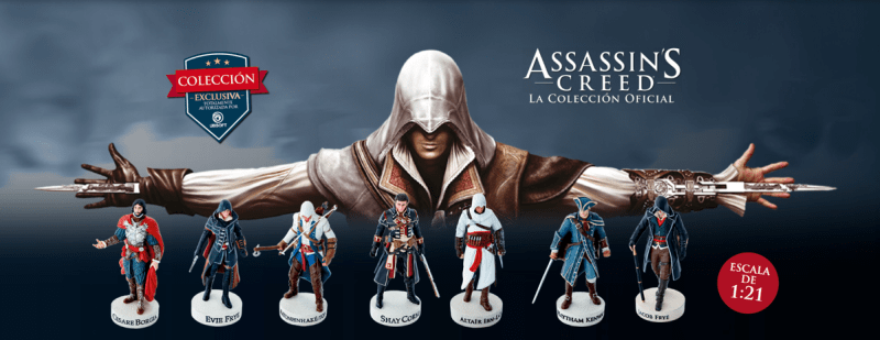 Ubisoft lanza colección oficial de Assassin's Creed - assassins-creed-la-coleccion-oficial-800x309