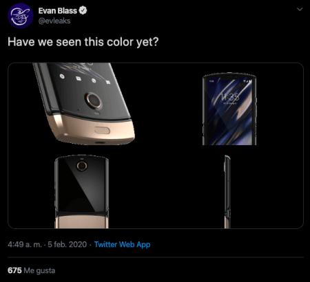Motorola lanzará su nuevo RAZR en color oro, señala filtración