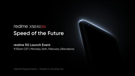 Realme presentará su nuevo smartphone 5G insignia: realme X50 Pro 5G en el Mobile World Congress 2020