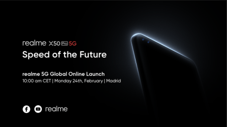realme anuncia evento global en línea, para el lanzamiento del realme X50 Pro 5G
