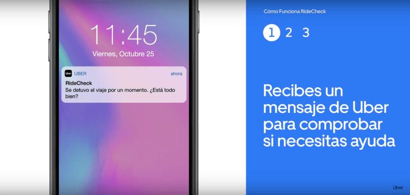 Uber México anuncia nuevas funciones de seguridad: RideCheck y la verificación con código PIN - ridecheck