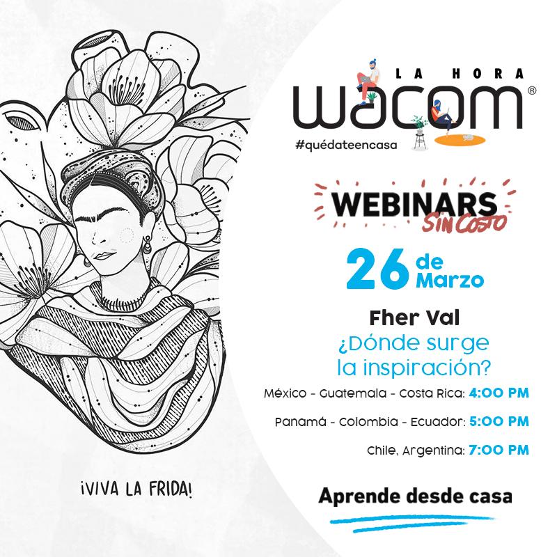 """Wacom se une a la iniciativa """"Quédate en casa"""" con webinars gratuitos - donde-surge-la-inspiracion-fher-val"""