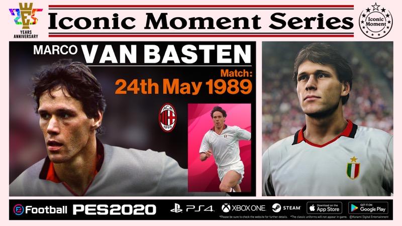 """Konami anuncia campaña para celebrar los 25 años de eFootball PES y presenta """"Iconic Moment Series"""" - efootball-pes_acm_van-basten"""