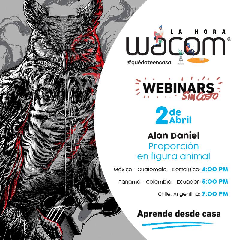 """Wacom se une a la iniciativa """"Quédate en casa"""" con webinars gratuitos - figura-animal-alan-daniel"""