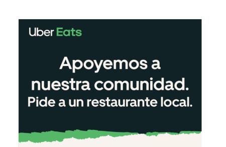 En Uber Eats, si haces tu pedido a un restaurante local, el costo de envío es gratis