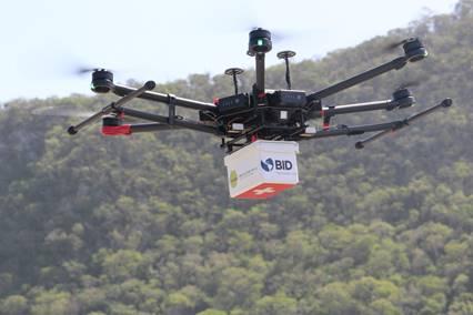 6 formas en las que Estados Unidos está implementado los drones para combatir el COVID-19 - entrega-con-drones