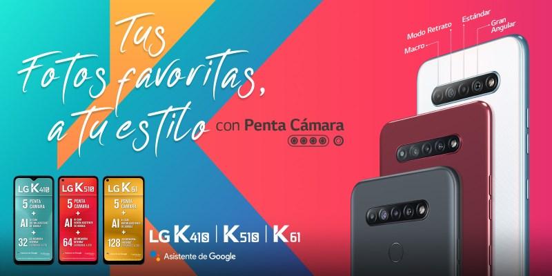 LG K61, K51S y K41S, con penta cámara ¡características y precios!