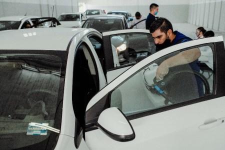 Centro de Sanitización para socios conductores de Uber en la Cuidad de México
