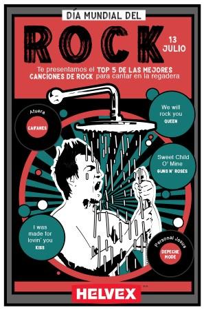 Día Mundial del Rock y beneficios de cantar en la ducha