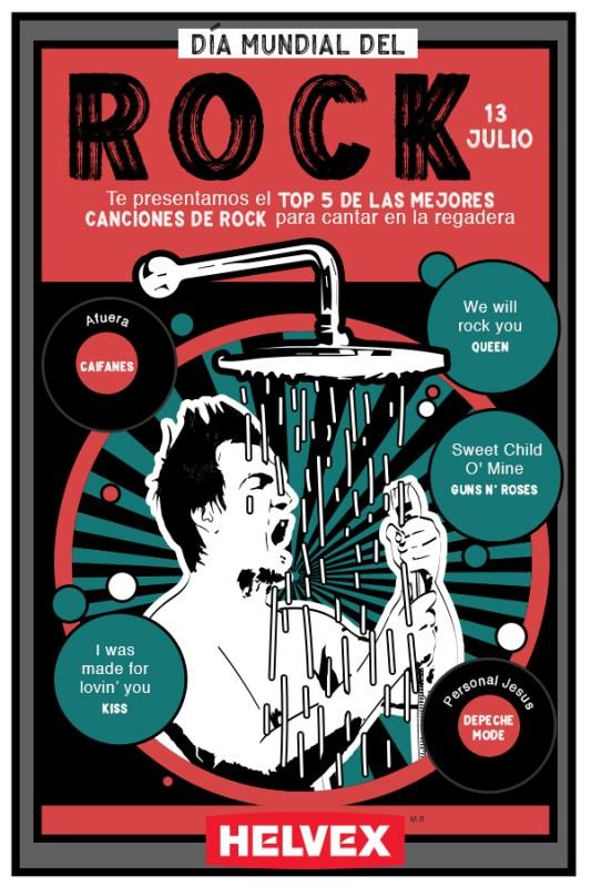 Día Mundial del Rock y beneficios de cantar en la ducha - dia-del-rock