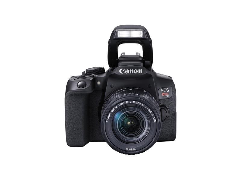 EOS Rebel T8i de Canon, la primera cámara EOS réflex con grabación de video vertical - hr_eost8i_frontslantdown_efs18_55mm_is_stm