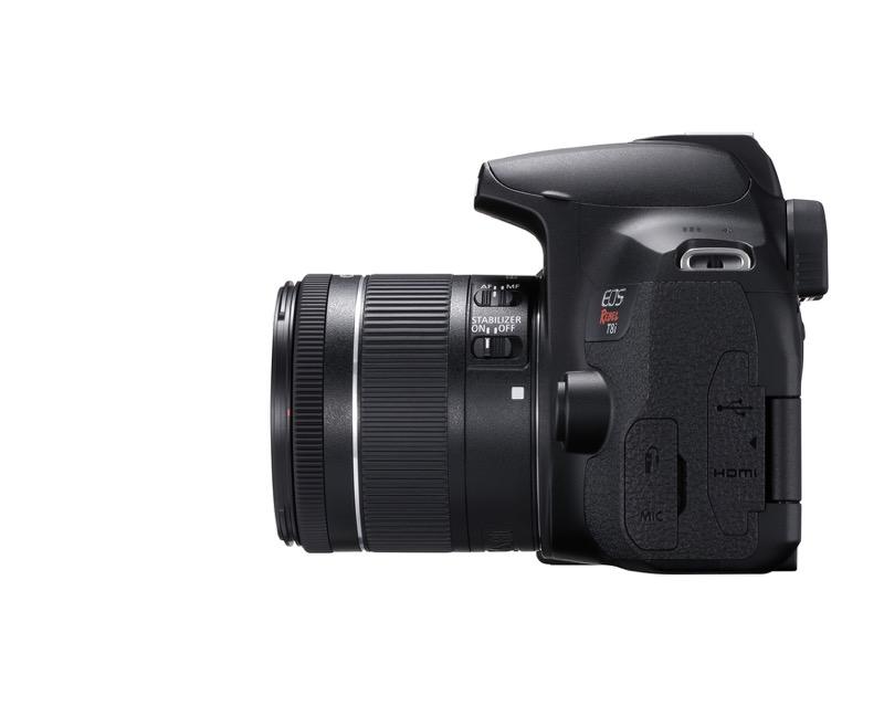 EOS Rebel T8i de Canon, la primera cámara EOS réflex con grabación de video vertical - hr_eost8i_left_efs18_55mm-800x640