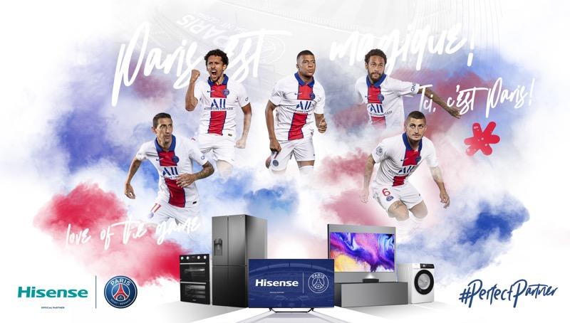 Hisense anuncia una alianza global con el club de fútbol París Saint-Germain - hisense-paris-saint-germain-800x454