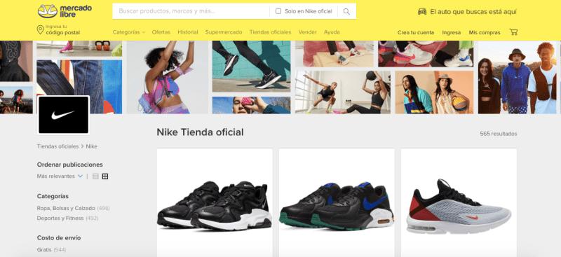 Nike México lanza tienda oficial en Mercado Libre - tienda-oficial-nike-mexico-mercado-libre-800x367
