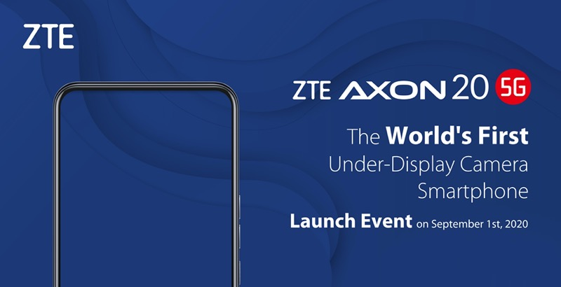 ZTE anuncia que lanzará el Axon 20 5G, el primer smartphone con cámara bajo la pantalla - zte-axon-20-5g-800x410