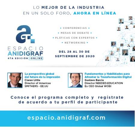 Llega la IV Reunión Cumbre Espacio ANIDIGRAF 2020 Virtual