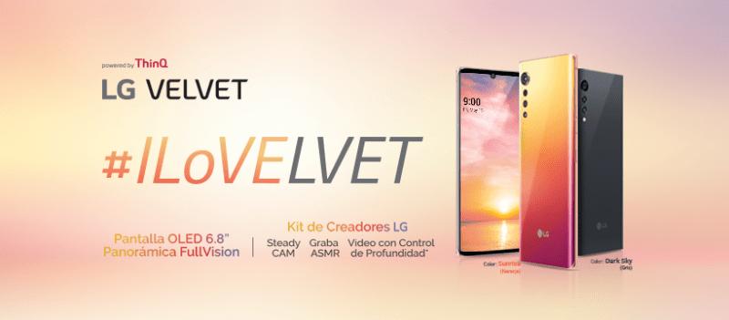 Lg Velvet llega a México ¡conoce características y precio! - lg-velvet-colores-800x351
