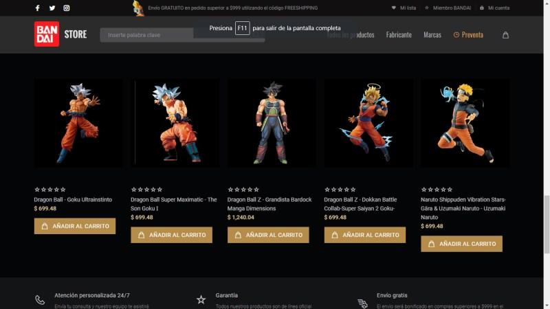Bandai Collectors Shop: tienda en línea de Bandai México de figuras coleccionables - bandai_collectors_shop_2-800x450