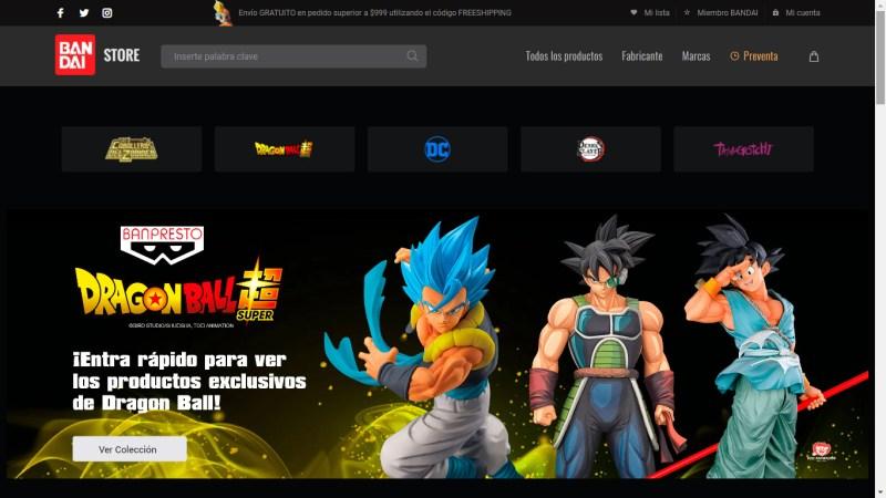 Bandai Collectors Shop: tienda en línea de Bandai México de figuras coleccionables - bandai_collectors_shop_bandai