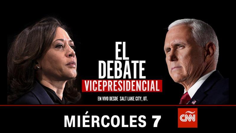 CNN en Español transmitirá en vivo el debate vicepresidencial 2020 - debate-vicepresidencial-800x450