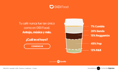 DiDi Food, Starbucks y Spotify brindarán unas experiencia únicas