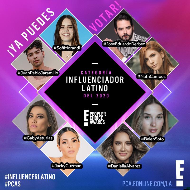 Se abre la votación E! People´s Choice Awards 2020 para selecciona al influenciador latino del año 2020 - influenciador-latino-del-ancc83o-2020