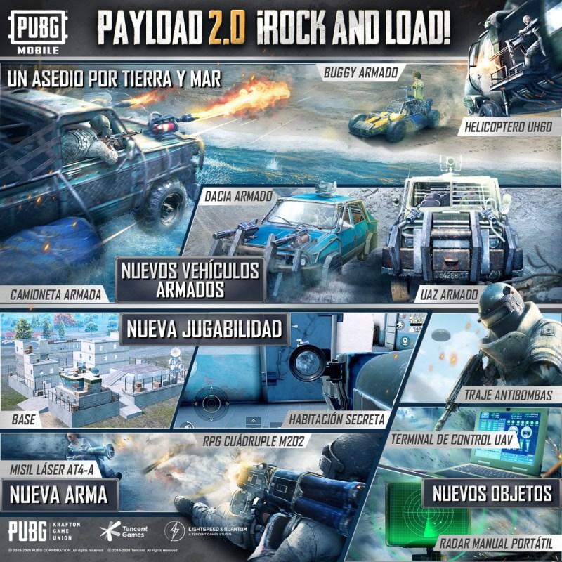 Modo Payload 2.0 llega a PUBG MOBILE con nuevo armamento y mejoras - modo-payload-pubg-mobile