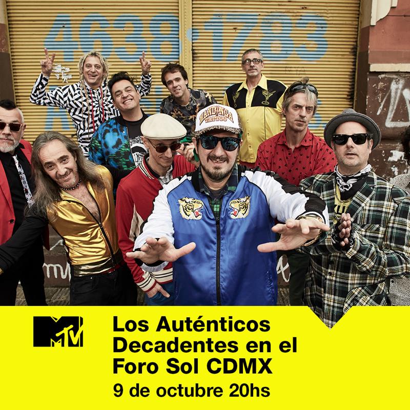 """MTV estrena el concierto de """"Los Auténticos Decadentes"""" en exclusiva en televisión"""