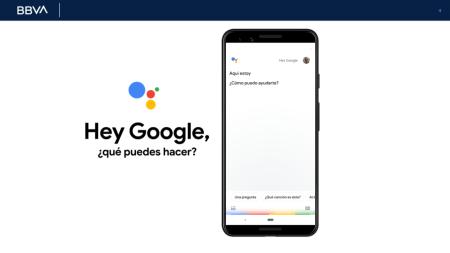 """Ahora desde la app de BBVA podrás realizar pagos y transferencias bancarias con solo decir ¿Hey Google…'"""""""