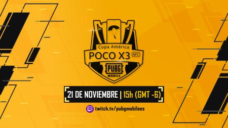 Copa América PocoX3 de PUBG MOBILE en colaboración con Twitch y Xiaomi