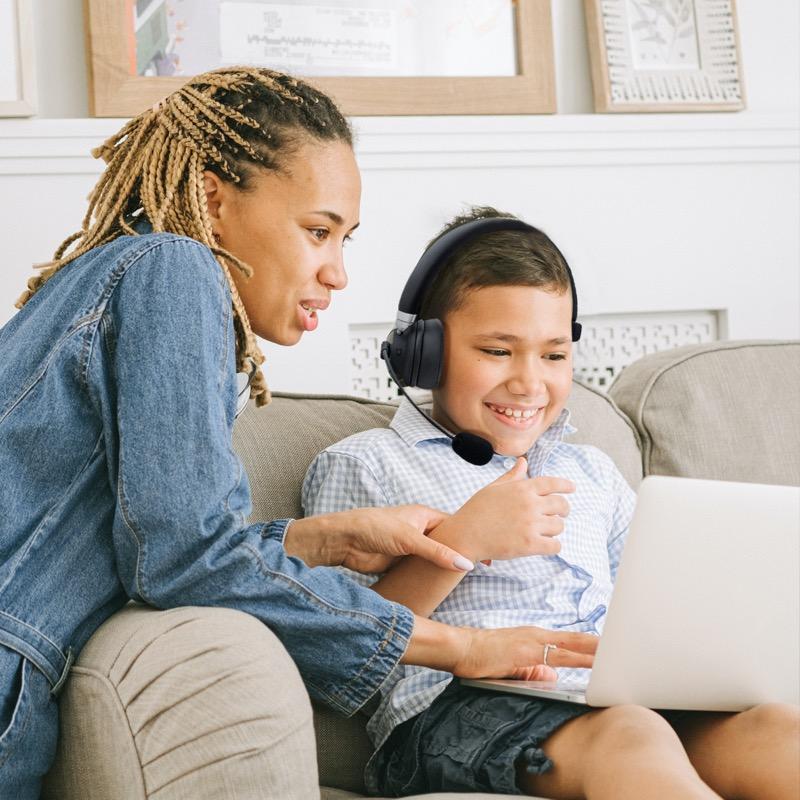 Nueva diadema inalámbrica con micrófono de TechZone, para el Home Office y Home School - diadema-microfono-techzone