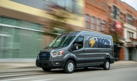 Nueva E-Transit de Ford, una versión totalmente eléctrica de la van de carga más vendida del mundo