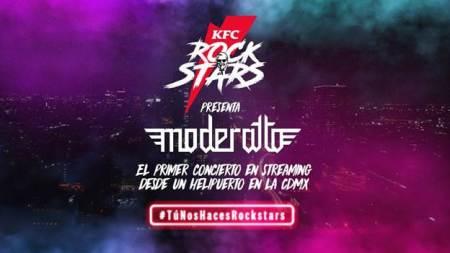 KFC y Moderatto ofrecen concierto gratuito desde el helipuerto en la CDMX
