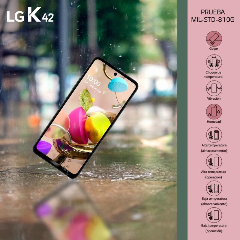 Nueva Serie K llega a México: LG K42, K52 y K62 ¡conoce sus características y precios! - lg-k42-estandares-militares-mil-std-810g