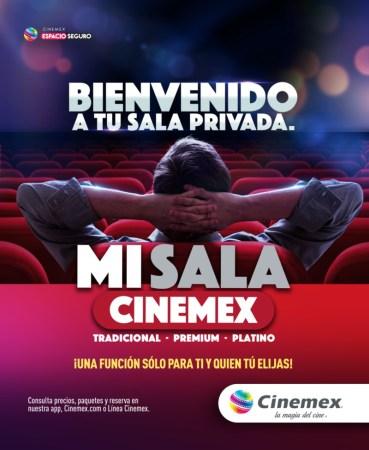 Ahora podrás rentar una sala privada en Cinemex para ver una película, la NFL o jugar videojuegos