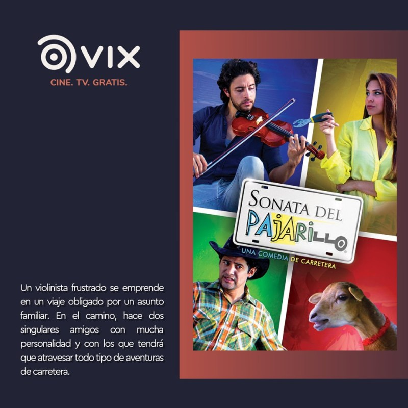 Maratón de comedia por VIX - CINE Y TV ¡totalmente gratis! - sonata-pajarillo-maraton-de-comedia-vix-cine-tv-800x800