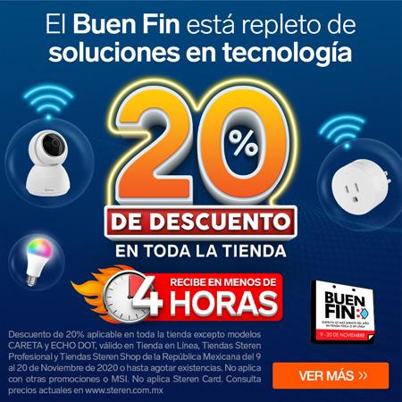 Steren en el Buen Fin 2020 con soluciones en tecnología - steren-buen-fin