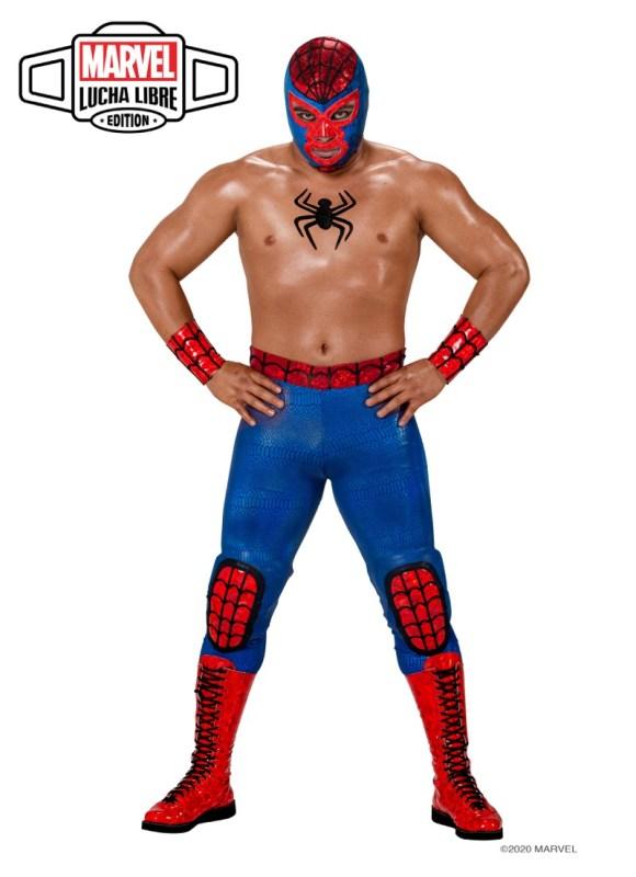 Nuevo grupo de luchadores inspirados en los súper héroes y villanos de Marvel - aracno