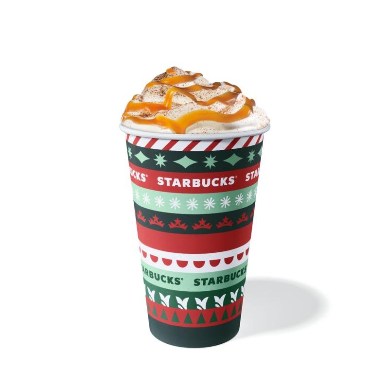 Starbucks presenta dos nuevas bebidas de edición limitada ¡ahora con sabor a fresa y avellana! - hazelnut-caramel-latte-paper-cup