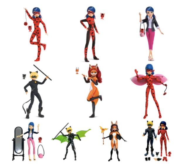Bandai presenta las nuevas fashion dolls y sets de juego de Ladybug - ladybug_miraculous_dolls