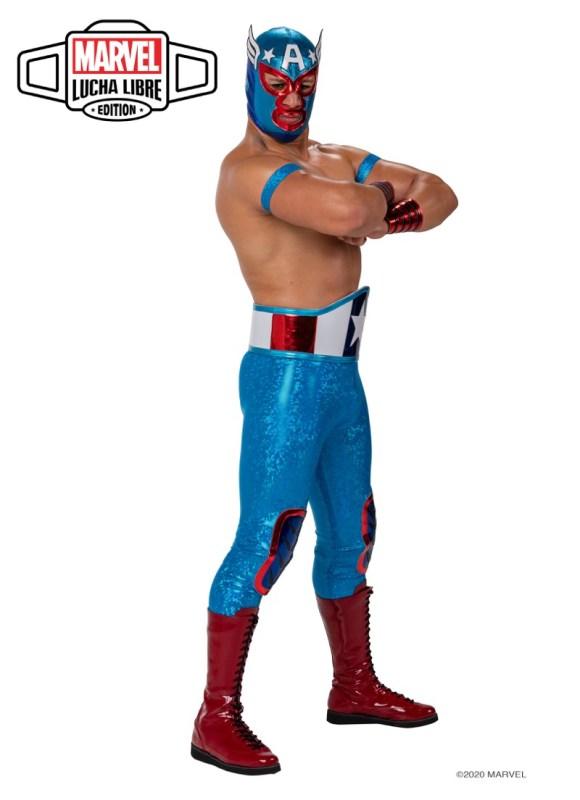 Nuevo grupo de luchadores inspirados en los súper héroes y villanos de Marvel - leyenda