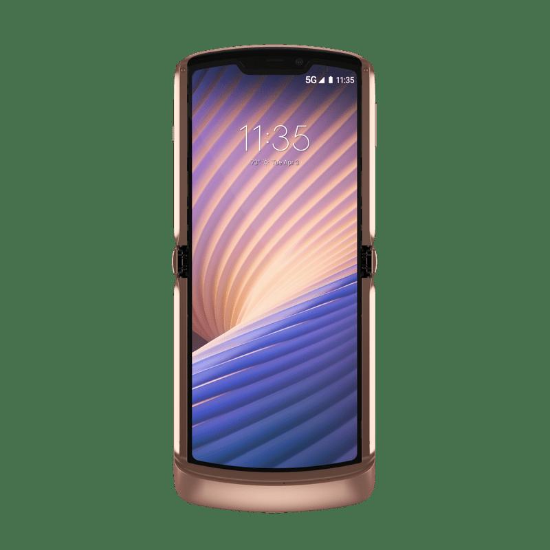 Nuevo RAZR 5G llega a México ¡El icónico smartphone plegable de Motorola, llega renovado! - motorola_razr_5g_blush-gold_front-opened