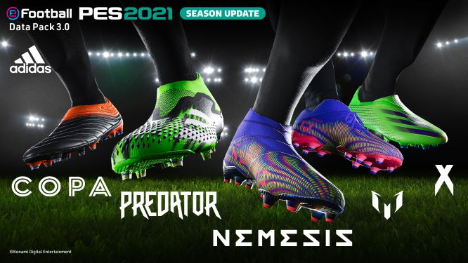 El paquete de datos 3.0 de eFootball PES 2021 ¡ya disponible! - pes2021_dp3_adidas