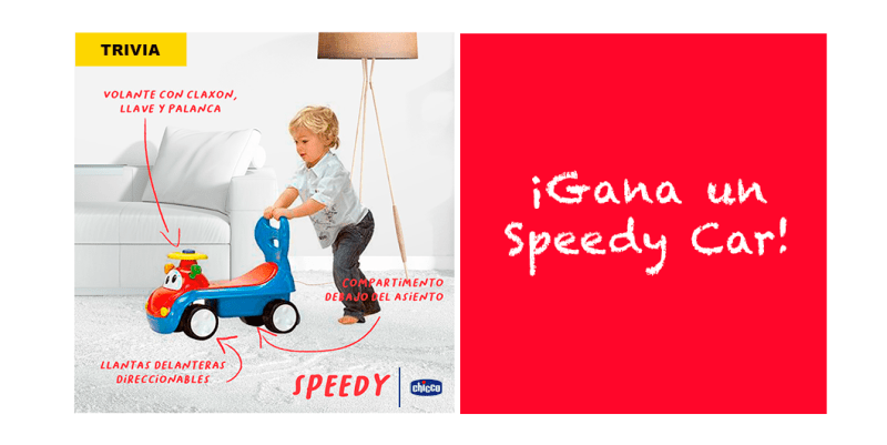 [TRIVIA] ¡Gana un Speedy Car de Chicco! un divertido montable lleno de sorpresas - speedy-car