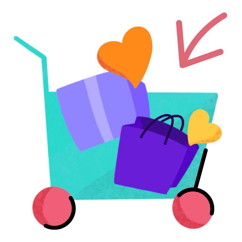 Carritos de compras en WhatsApp ¡conoce cómo usarlos paso a paso! - sticker-carrito