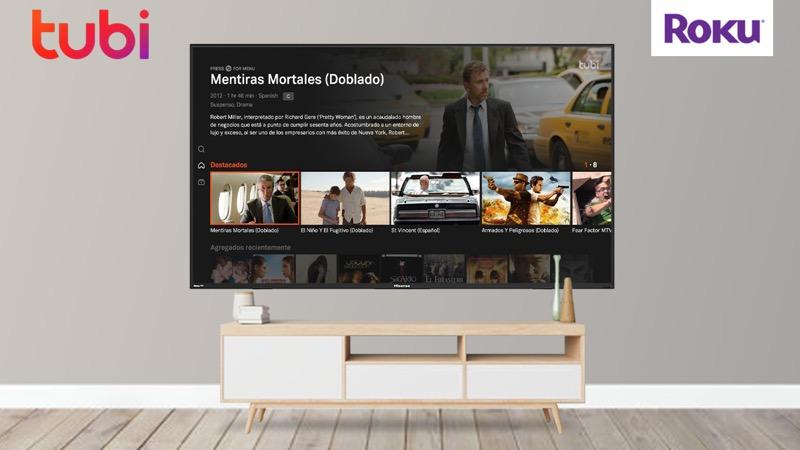 Tubi llega de manera oficial a todos los dispositivos Roku en México - tubi-tv-roku-mexico-800x450