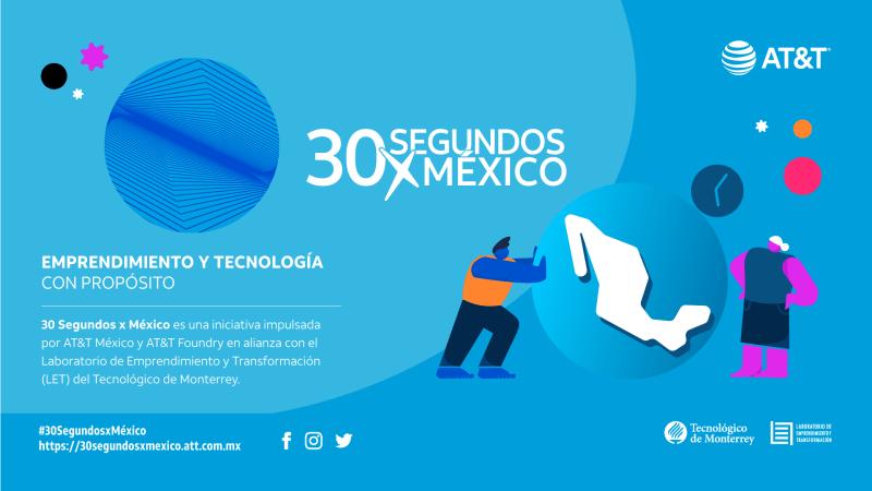 30 Segundos x México, ¡convocatoria abierta para emprendedores! - 30segundosxmexico-800x450